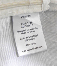 Load image into Gallery viewer, Sass & Bide tunic top, black & white - sz. 8 Rogue Map, v.g. cnd.