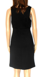 Review dress, jet black, smart casual style, near new, sz. 8
