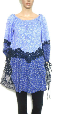 Seed Heritage blue tunic top, peasant style, sz. 10-12, exc. cnd.