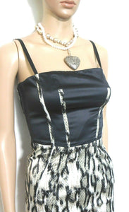 Roberto Cavalli dress, very glam, python pattern, sz. 6/38, Made in Italy, near new