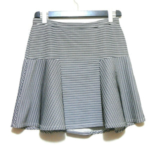 Portmans skirt, black & white striped, sz. 12/L, NWOT