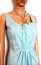 Load image into Gallery viewer, Veronika Maine dress, teal/aqua, sz. 10, pleated front, cool and classy casual, exc. cnd.
