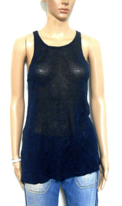 Sass & Bide linen tank top, Freetown, dark blue, sz. 8-10/XXS, exc. cnd.