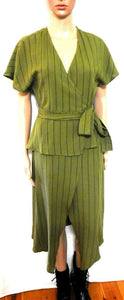 August Street No vacancy dress, khaki striped, sz. 8/XS, ***NWT RP$159.95