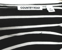 Load image into Gallery viewer, Country Road striped stretch dress, black & white, sz. 10/XS, NWOT, all season