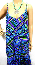Load image into Gallery viewer, City Chic maxi beach dress, water colours, near new, sz. M