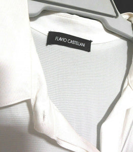 Flavio Castellani white shirt, sz. 14-16/L Made in Italy - cool glamour