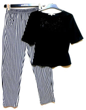 Load image into Gallery viewer, Review striped pants + FREE Review black satin top, sz. 8