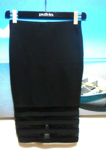 Witchery black pencil skirt, firm stretch, chic style, sz. 8 as new