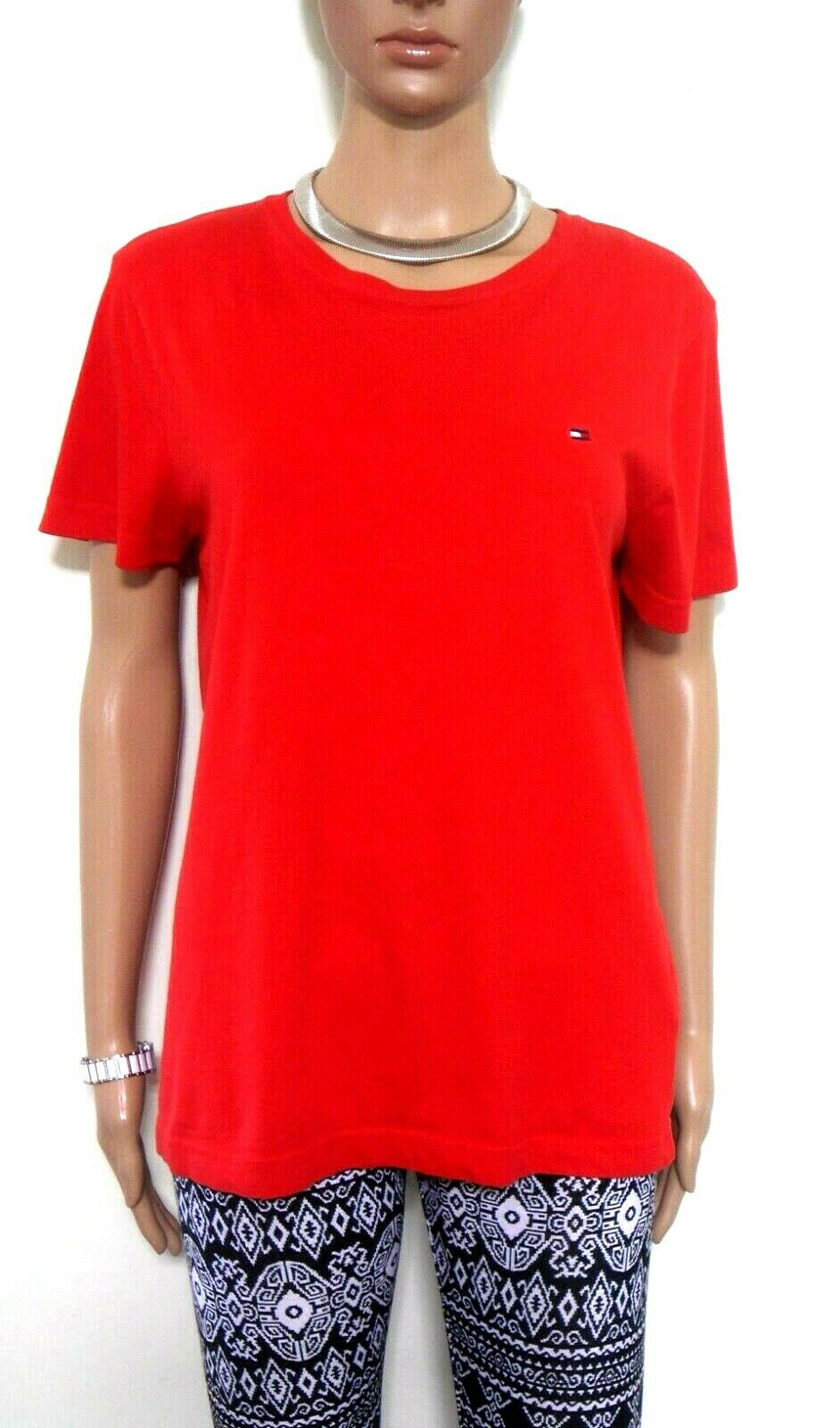 Tommy Hilfiger red sporty tee top, sz. 10-12/S, near new