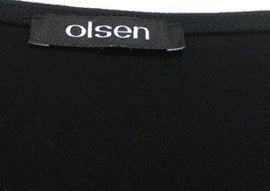 Olsen spectacular stretch tunic top, sz. 14-16/44, black - for all seasons, near new