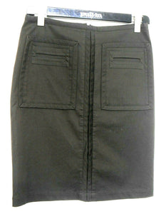 Lisa Ho sporty pencil skirt with pockets, bitter chocolate, sz. 10-12. NWOT