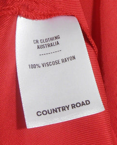 Country Road - red frill dress, sz. 8-10/XS hot and spunky, exc. cnd.