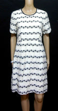 Load image into Gallery viewer, Country Road silk blend dress, ivory/black polka dots, sz. 10