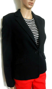Cue, black single button jacket, sz. 10 - smart casual for all seasons, good cnd.