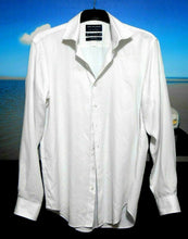 Load image into Gallery viewer, Van Heusen easy care white shirt with dots, sz. 12/39 - all seasons wear