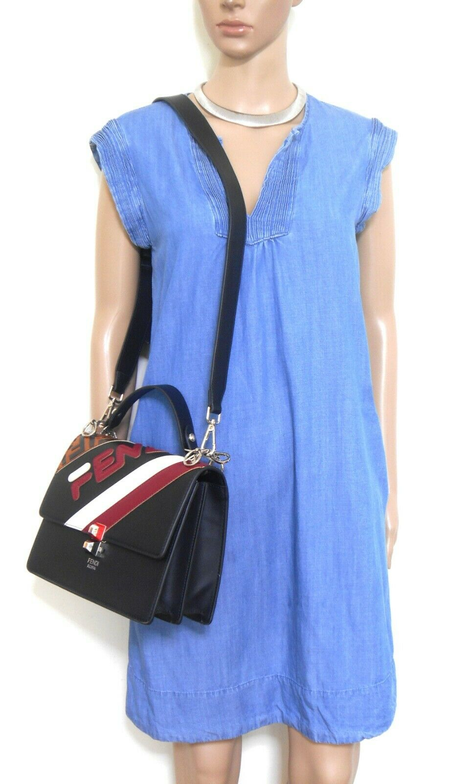 David Lawrence blue tunic dress with pockets, sz. 10/S, exc. cnd.