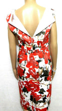 Load image into Gallery viewer, Diana Ferrari floral dress, red & black, sz. 10, satin lined, as new