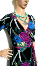 Load image into Gallery viewer, Leona Edmiston wrap dress, bold floral, sz. 10/XS, NWOT