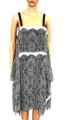 Rachel Roy, super light and flowing dress, lace trim, sz. 12 **NWT, black &ivory
