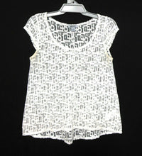 Load image into Gallery viewer, DKNY white lace top,  sz. 10/S, NWOT