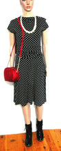 Load image into Gallery viewer, Folter polka dot black dress, rockabilly style, sz. 8-10, ***NWT