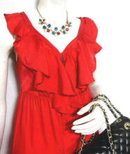 Load image into Gallery viewer, Country Road - red frill dress, sz. 8-10/XS hot and spunky, exc. cnd.