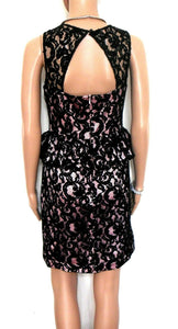 Review black lace dress, very glam for clubs and parties, sz. 8, exc. cnd.