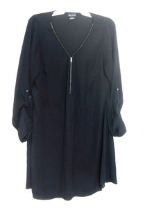 City Chic black tunic dress, loose styling, sz. S - for all seasons