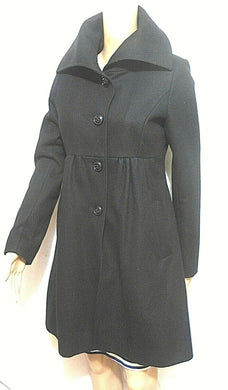 DKNY black wool bl. coat, sz. 8/2, near new
