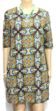 Load image into Gallery viewer, JV Selection tribal pattern tunic dress, sz. 10, near new, spice colours