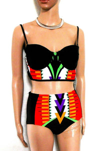 River Island 2 pc. bathers, retro style, superb look & fit, sz. 8/10UK, ***NWT