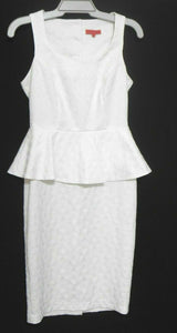 Manning Cartell white dress, classy casual, sz. 10 - lovely textured fabric, exc. cnd.