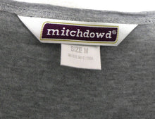 Load image into Gallery viewer, Mitch Dowd tee shirt, soft grey, sz. 10-12/M, skip girl applique, v.g. cond.