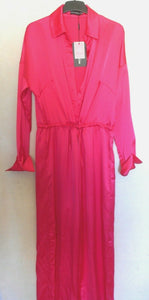 Prettylittlething Fuchsia wide leg playsuit , sz. 12/10UK - 14-16, ***NWT