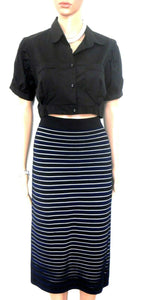 Forever New midi pencil skirt, black stretch, sz. 12/M, for all seasons, exc. cnd.