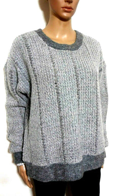 Staple the label, fluffy grey jumper, wool blend, sz. 12-14, exc. cnd.
