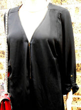 Load image into Gallery viewer, City Chic black tunic dress, loose styling, sz. S - for all seasons