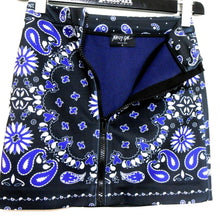 Load image into Gallery viewer, Nasty Gal, super sassy short skirt with pockets, black/dark blue, sz. 6/S NWOT