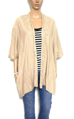 Max Studio beige shrug cardigan, long line, sz. 10-16, ***NWT