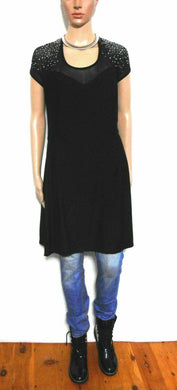 City Chic black dress with crystal embossed shoulders, sz. L, NWOT