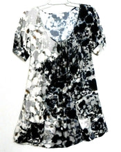 Load image into Gallery viewer, Witchery tunic dress, dark blue & ivory, sz. 8/XS, with large pockets, NWOT