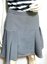 Load image into Gallery viewer, Portmans skirt, black & white striped, sz. 12/L, NWOT
