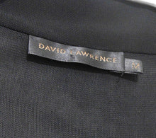 Load image into Gallery viewer, David Lawrence black jersey dress, draping style, with pockets, sz. 12/M, NWOT