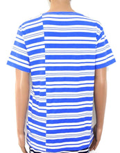 Load image into Gallery viewer, Jack & Jones cool striped top, marine blue & white, sz12/M, near new