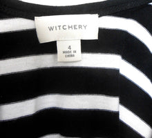 Load image into Gallery viewer, Witchery Breton stripe dress, sz. 12-14, black & white - low back