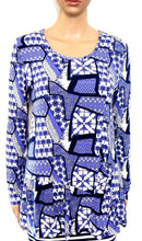 Load image into Gallery viewer, Blue Illusion- tunic top, sz.12 NWOT, blues