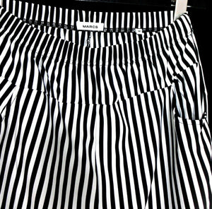 Marcs funky striped pants with pockets, pull on style, sz. 12/M, on trend, exc. cnd.
