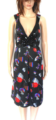 Katherine dress, with beaded butterfly at the bust, sz. 14 - as new