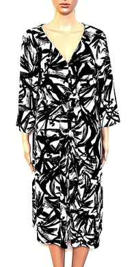 Millers flowy jersey dress, black & white, sz. 18 ***NWT